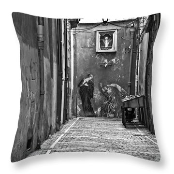 Alleyway Throw Pillow by Marion Galt