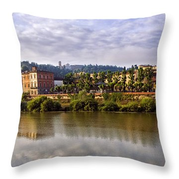 Along The Arno Throw Pillow