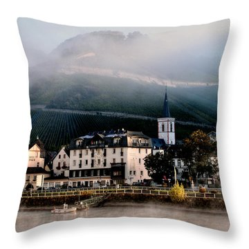 Throw Pillow featuring the photograph Along The Rhine by Jim Hill