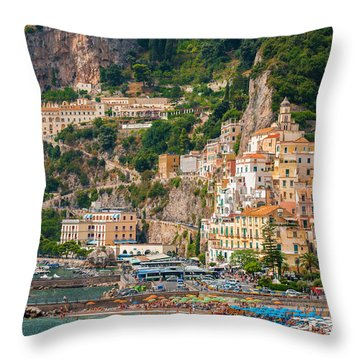 Amalfi City Throw Pillow