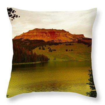 An Alpine Lake Throw Pillow by Jeff Swan