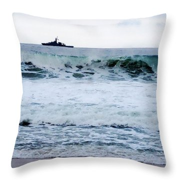 Throw Pillow featuring the photograph Anchored  by Zinvolle Art