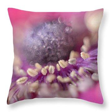 Anemone Throw Pillow by Mark Johnson