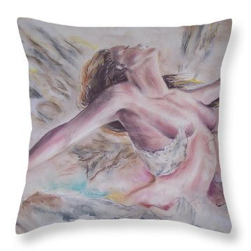 Angel Burst Throw Pillow
