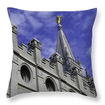 Angel On The Temple Throw Pillow