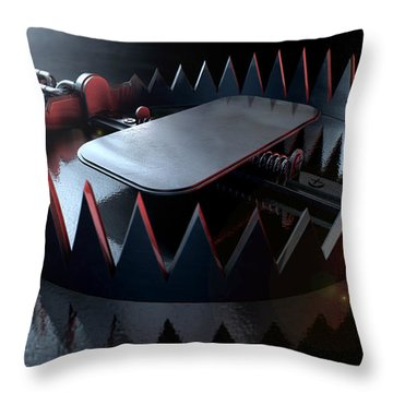 Animal Trap Dramatic Throw Pillow