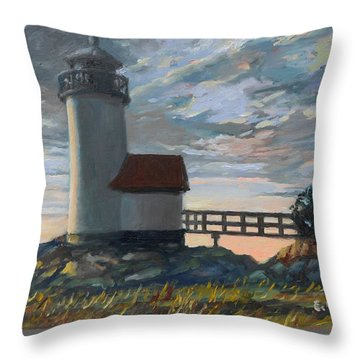 Annisquam Light Throw Pillow by Eileen Patten Oliver