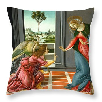 Annunciation Throw Pillow