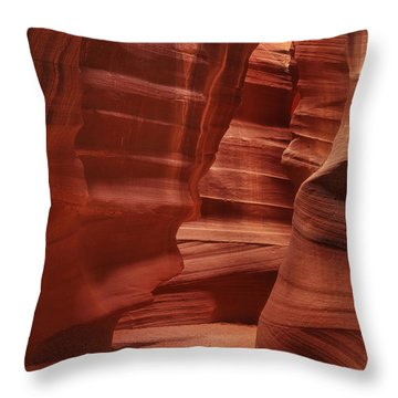 Antelope Slot Canyon Throw Pillow