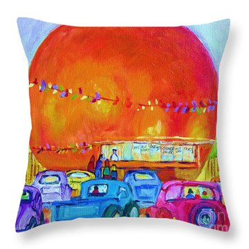 Antique Cars At The Julep Throw Pillow by Carole Spandau