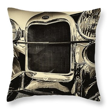 Antique Ford Car Throw Pillow
