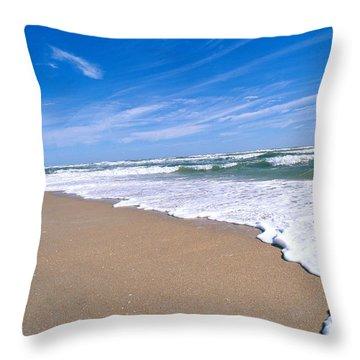 Apollo Beach Throw Pillow by Millard H. Sharp