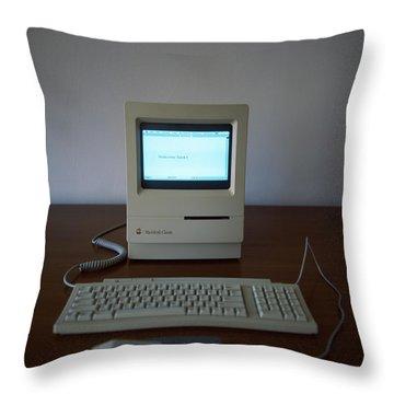 Apple Macintosh Classic Desktop Pc Throw Pillow