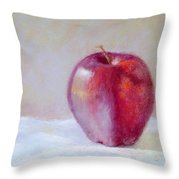 Apple Throw Pillow by Nancy Stutes