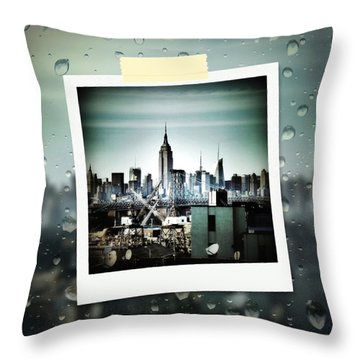 April In Nyc Throw Pillow