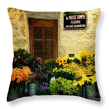April In Paris Throw Pillow