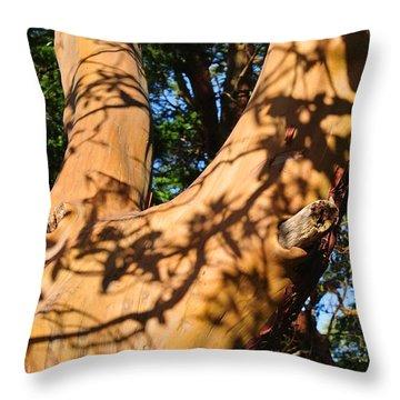 Arbutus Tree Throw Pillow