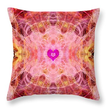 Archangel Chamuel Throw Pillow