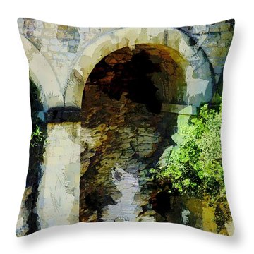 Arches Throw Pillow by John Stuart Webbstock