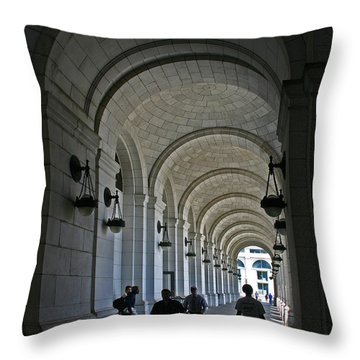 Arches Of Stone Throw Pillow