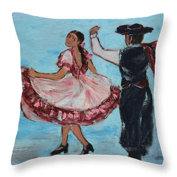 Argentinian Folk Dance Throw Pillow