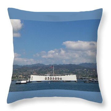 Arizona Memorial  Throw Pillow by Kenneth Cole