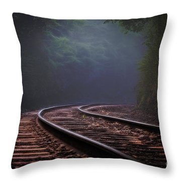 Around The Bend. Throw Pillow