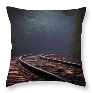 Around The Bend. Throw Pillow