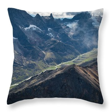 Arrigetch Throw Pillow