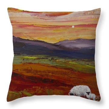As Evening Falls Ll Throw Pillow