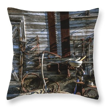 As Time Goes By Throw Pillow by Sandra Bronstein
