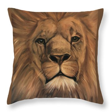 Throw Pillow featuring the painting Asland by Nancy Bradley