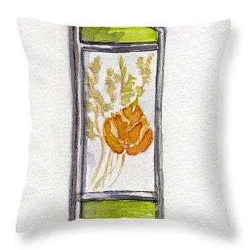 Throw Pillow featuring the pastel Aspen Leaf Suncatcher by Julie Maas