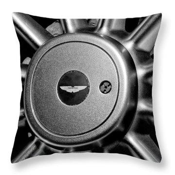 Aston Martin Db7 Wheel Emblem Throw Pillow