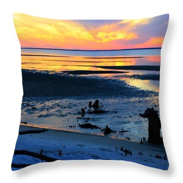 At A Days End Throw Pillow
