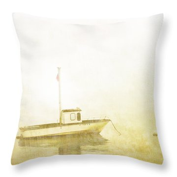 At Anchor Bar Harbor Maine Throw Pillow