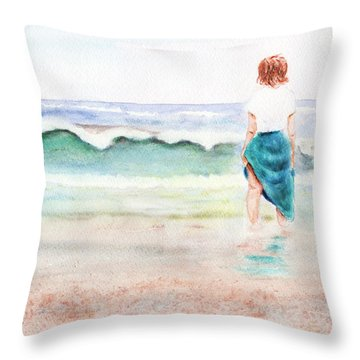 At The Beach Throw Pillow