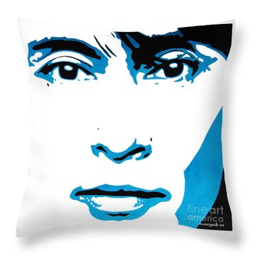 Aung San Suu Kyi. Throw Pillow