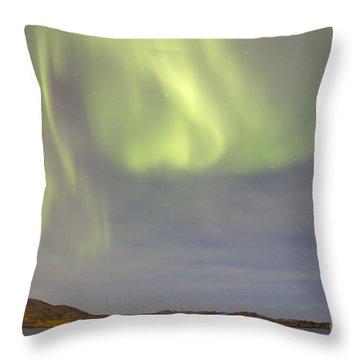 Aurora Borealis With Big Dipper Throw Pillow by Joseph Bradley