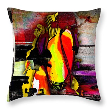 Austin Texas Map Watercolor Throw Pillow by Marvin Blaine