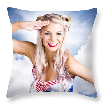 Sailors Girl Throw Pillows