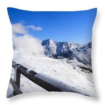 Throw Pillow featuring the photograph Austrian Mountains by Susan Leonard