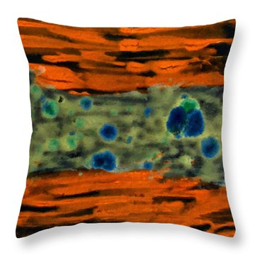 Autumn Breeze Throw Pillow by Joan Reese