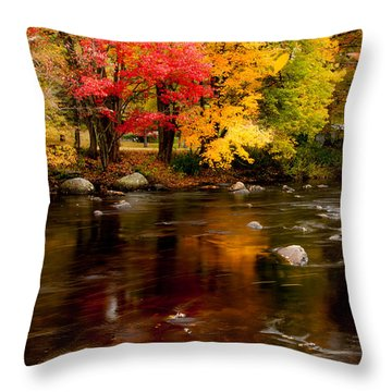 Throw Pillow featuring the photograph Autumn Colors Reflected by Jeff Folger