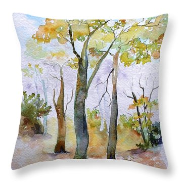 Autumn Throw Pillow by Geeta Biswas