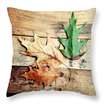 Throw Pillow featuring the photograph Autumn Leaves Ablaze With Color by Kim Fearheiley