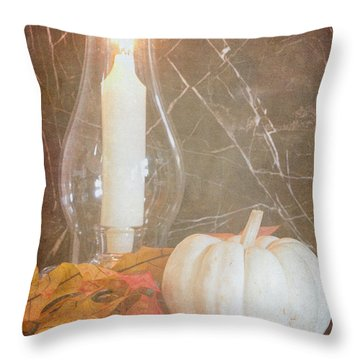 Throw Pillow featuring the photograph Autumn Light by Heidi Smith