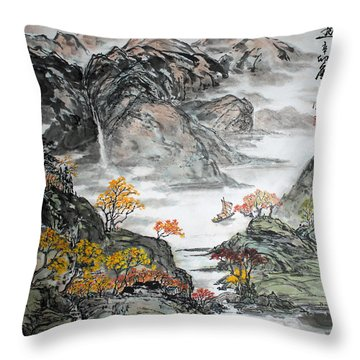 Autumn  Throw Pillow by Yufeng Wang