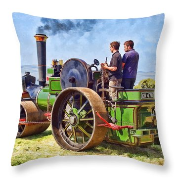Aveling Roller Throw Pillow