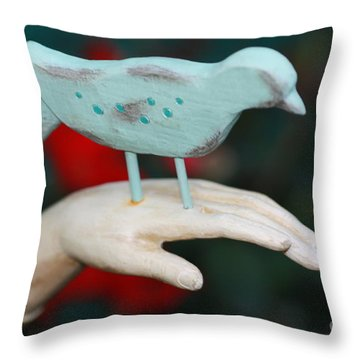 Avian On Hand Throw Pillow by Cathy Dee Janes